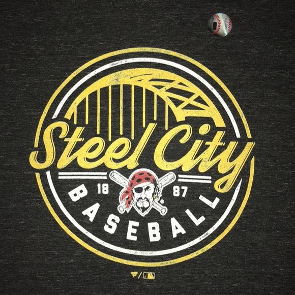 "the latest 060b9 b6cc7 Pittsburgh Pirates ""Steel City"" shirt NWT"